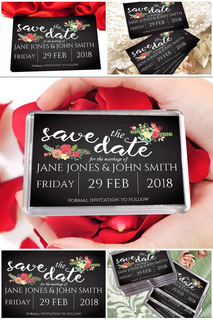 If you\'re looking for chalkboard style save the dates then how about ...