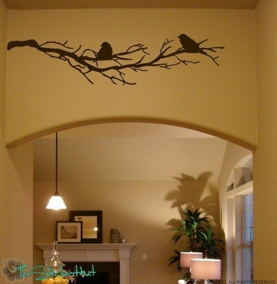 2 Birds on Bare Branches Vinyl Home Decor - Vinyl Letters - Decor Decals -  Vinyl Art - Wall Art Stickers Decals Graphics 765