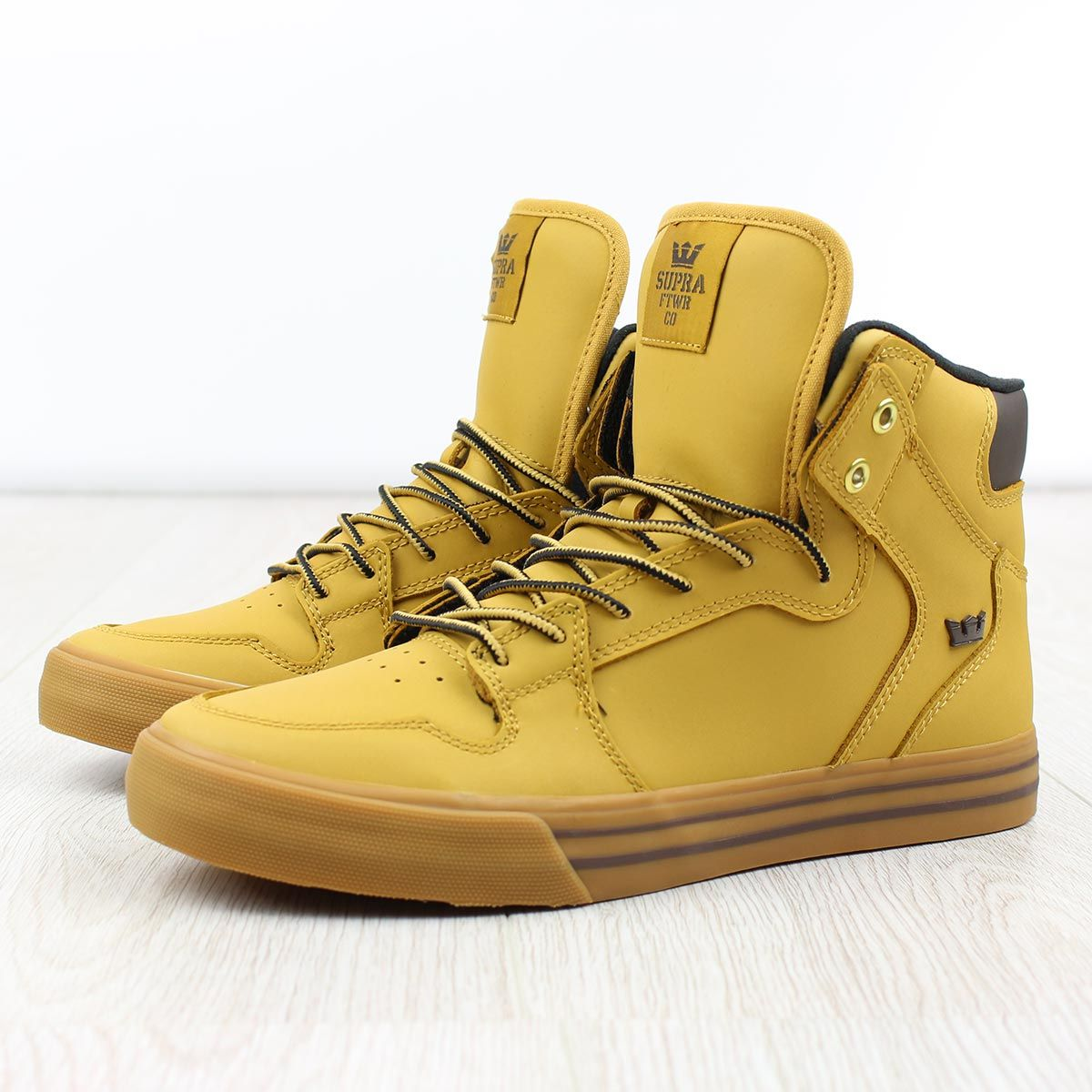ed6f2a454047 Supra Vaider High Top Shoes - Amber Gold Gum
