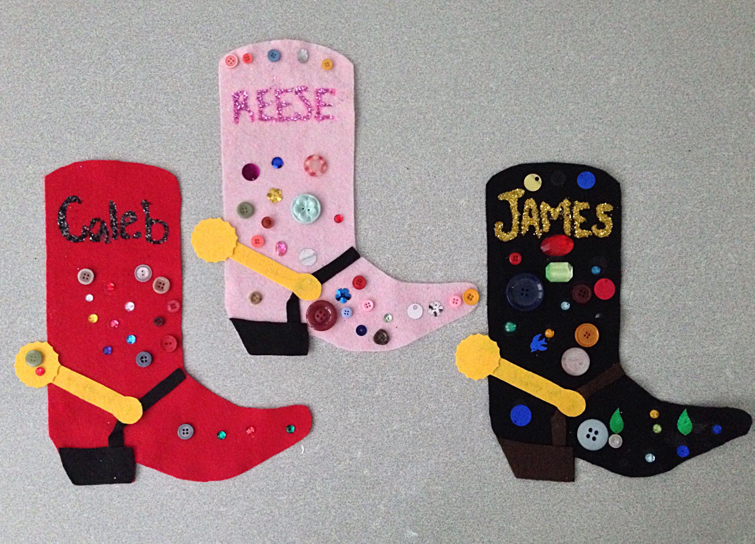 Rodeo Season Cowboy Boot Craft