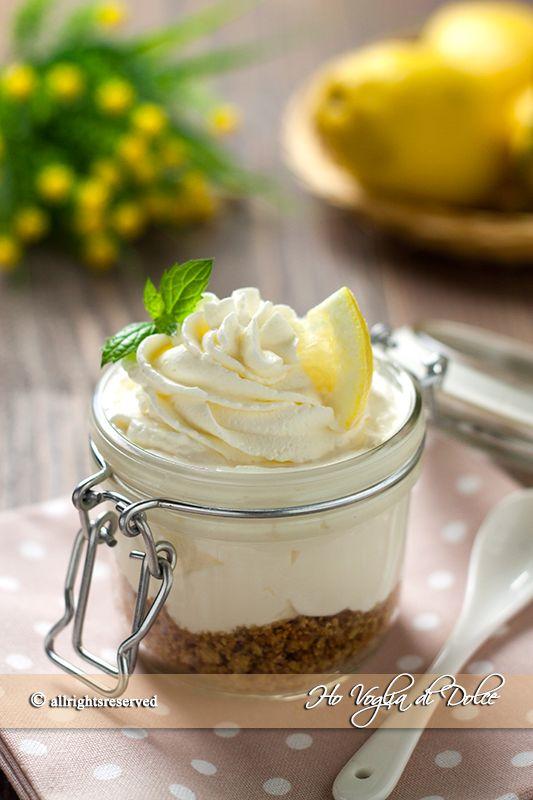 cabbbc59fa3a Coppette cremose al limone senza cottura e uova