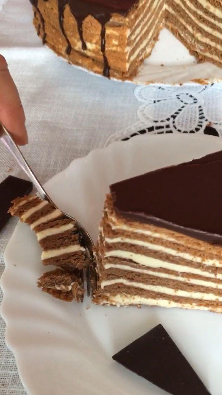 Torte Spartak – leckeres Rezept für russischen Schoko-Medovik