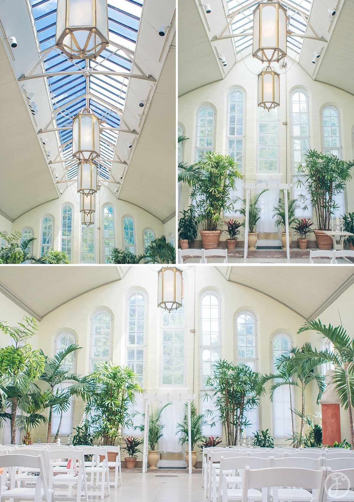 piper palm house in tower grove park st louis ceremony and