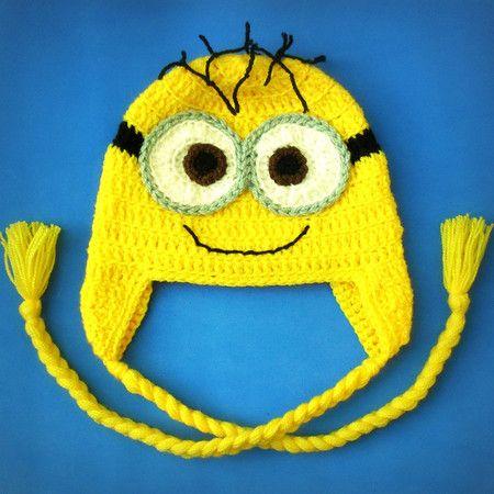 Touca de crochê Minion - Meu Malvado Favorito Crochet hat Despicable ...
