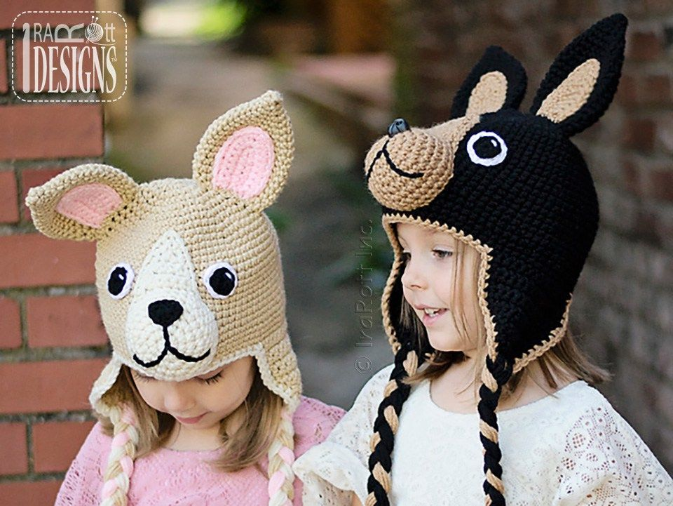 Pixie And Maxi The Chihuahua Hat Pdf Crochet Pattern Pdf Crochet