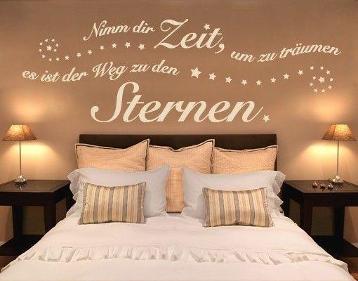 """Das Schlafzimmer Wandtattoo """"Nimm Dir Zeit Zum Träumen"""