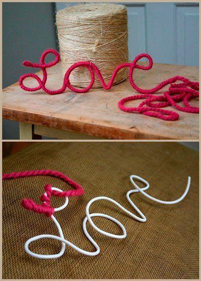 Manualidad Romantica Para San Valentin Con Hilo Boda Pinterest