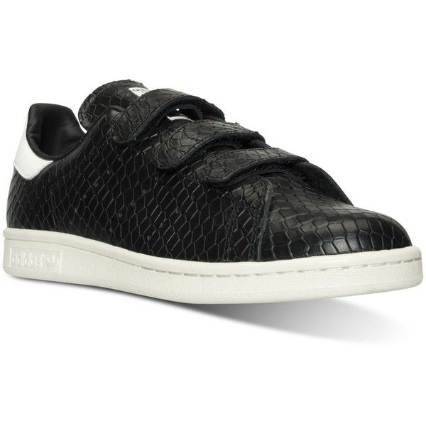 adidas Women s Stan Smith Velcro Casual Sneakers from Finish Line ( 90) ❤  liked on Polyvore featuring shoes 6d89e8fd7ae5