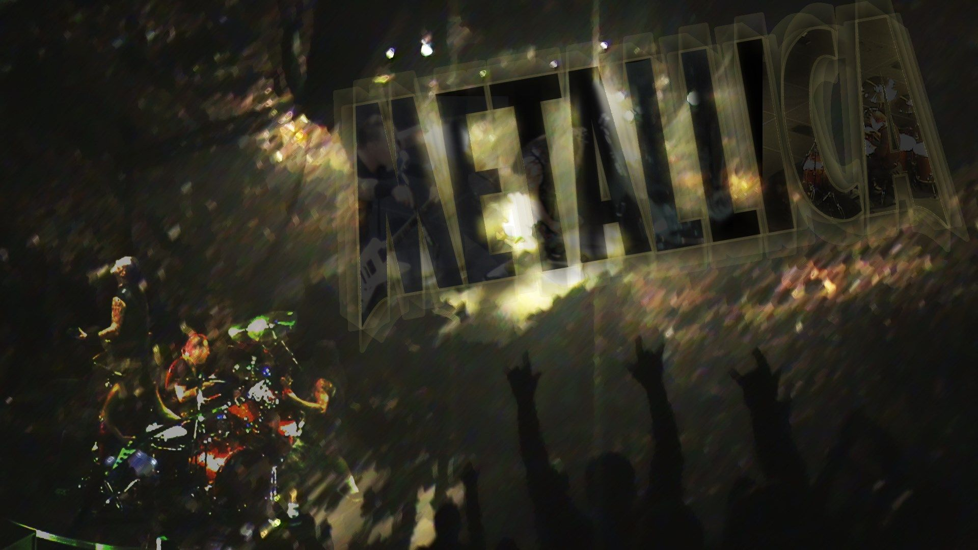widescreen metal band metallica logo wallpaper hd picture