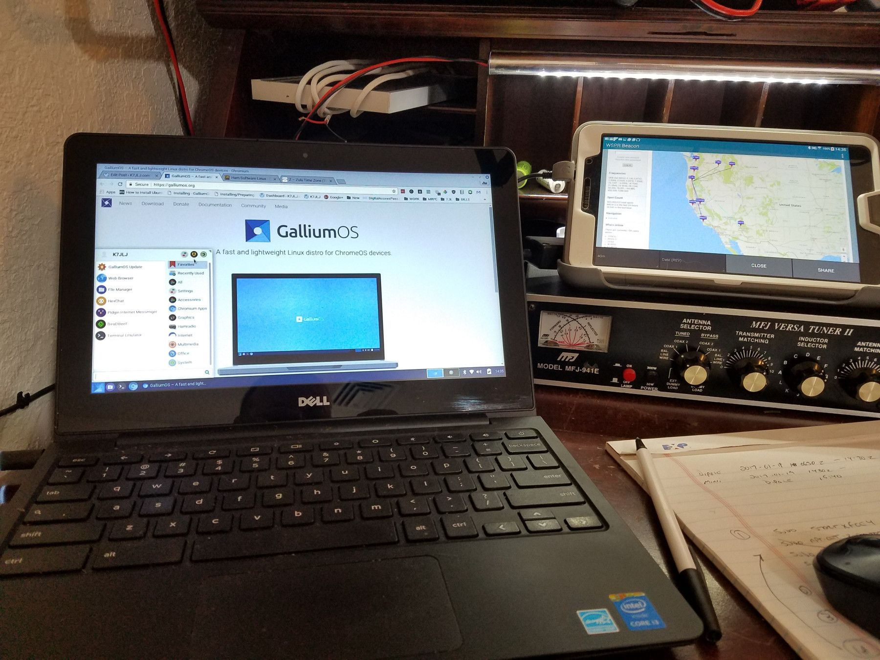 Converting a Dell Chromebook to a Linux HAM Shack (With