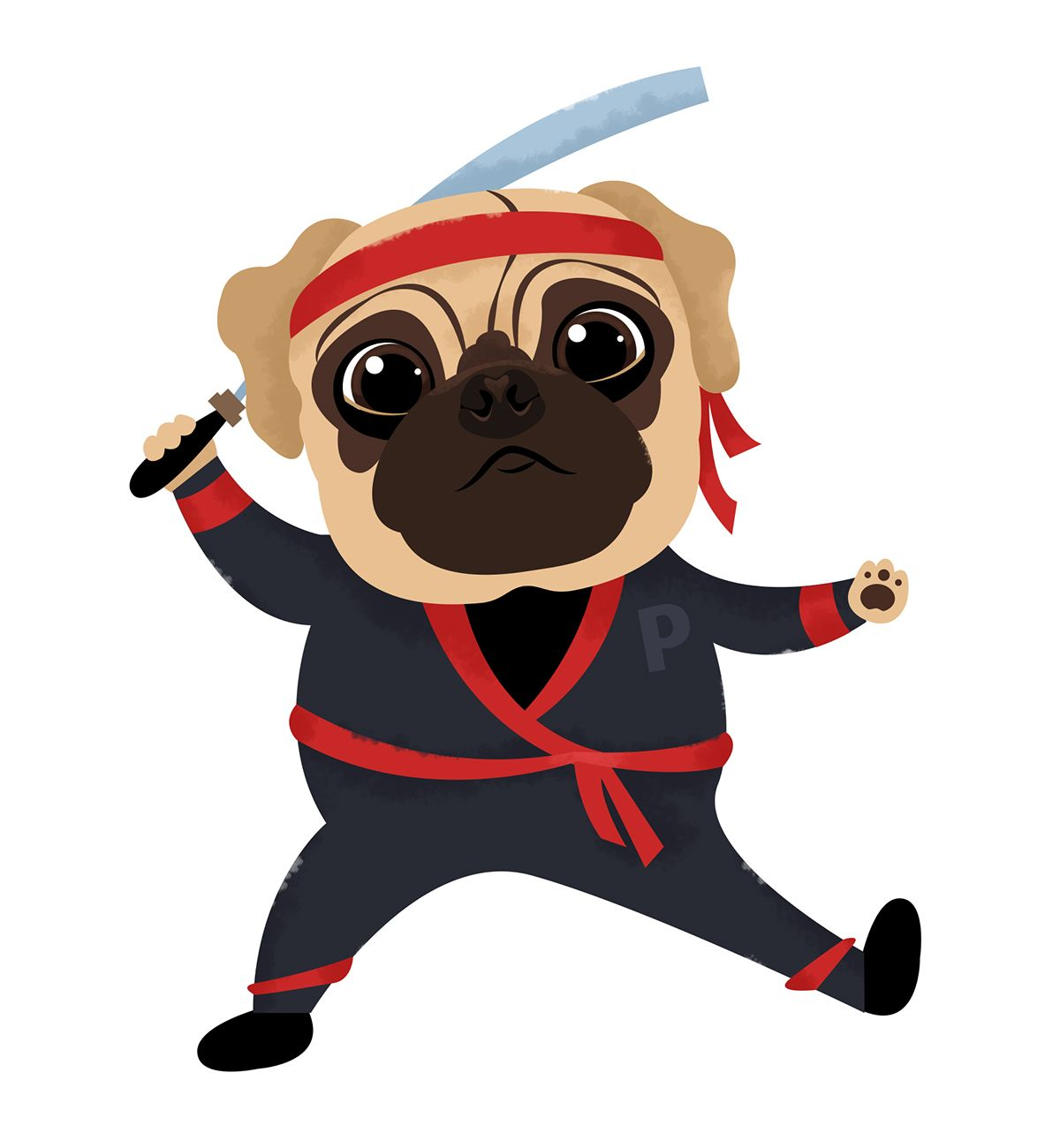 Illustrated Fifteen Pugs For Use In A Card Game In New Zealand