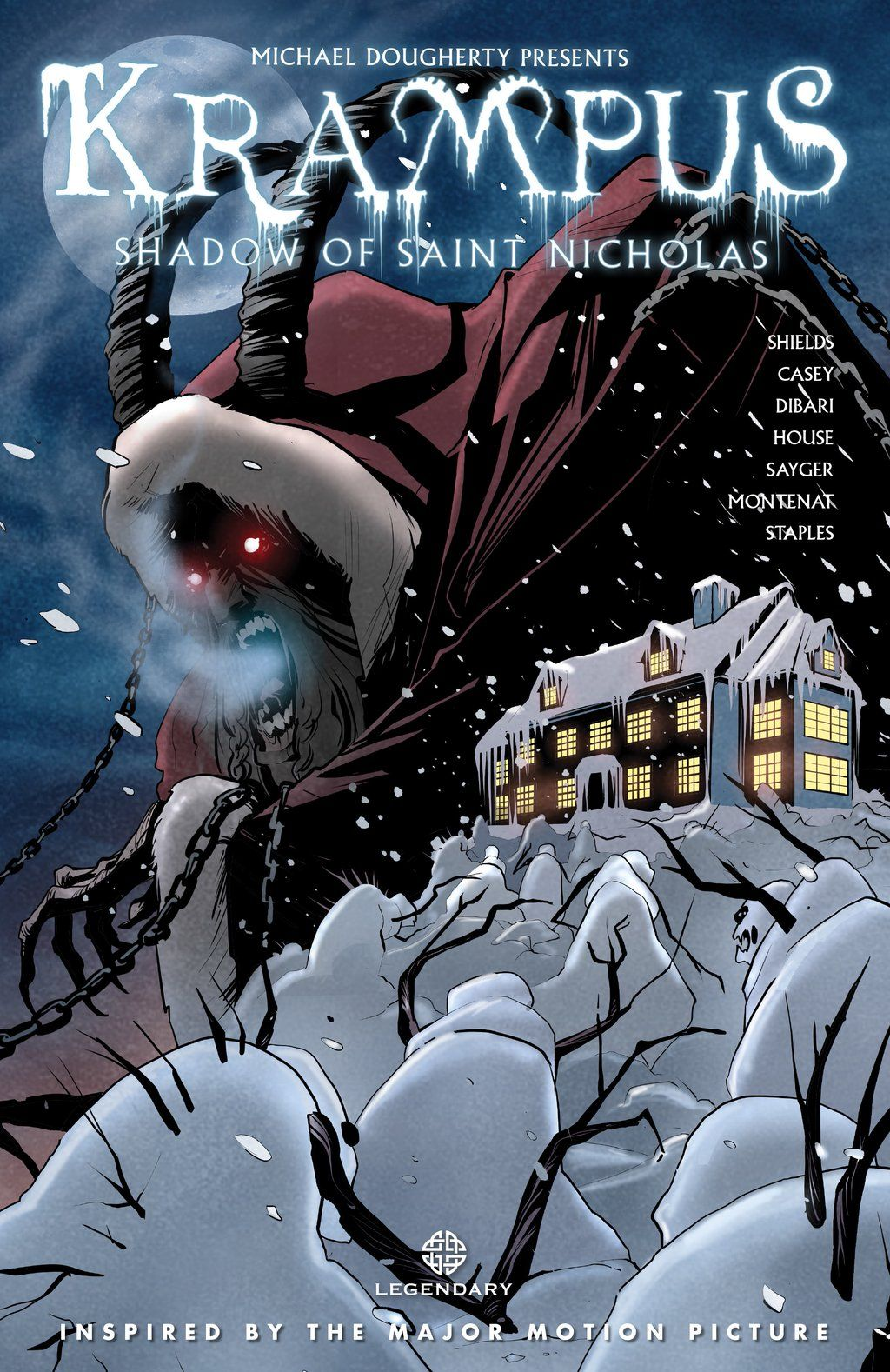 Legendary on Krampus movie, Saint nicholas, Horror