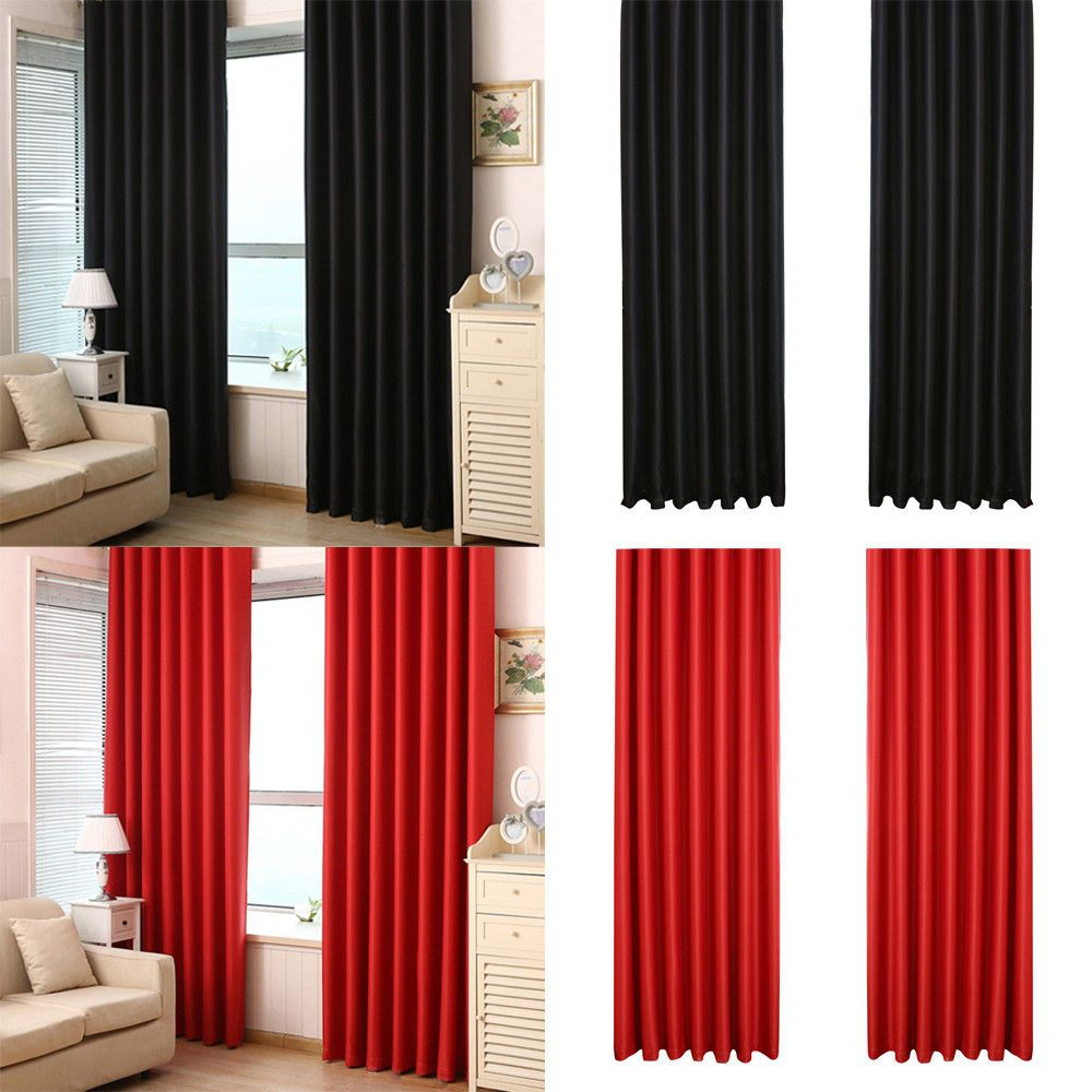 Outside window treatment ideas   x  inch blackout curtain thermal insulated grommet for bedroom