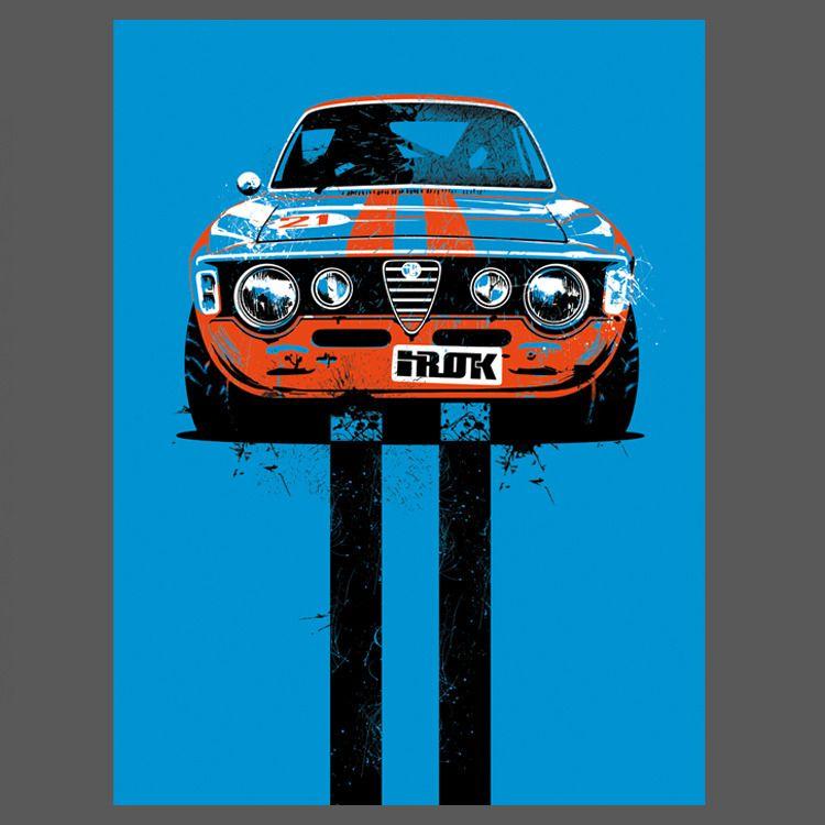 Alfa Romeo Rally Limited Edition 9x12 Print From IROK