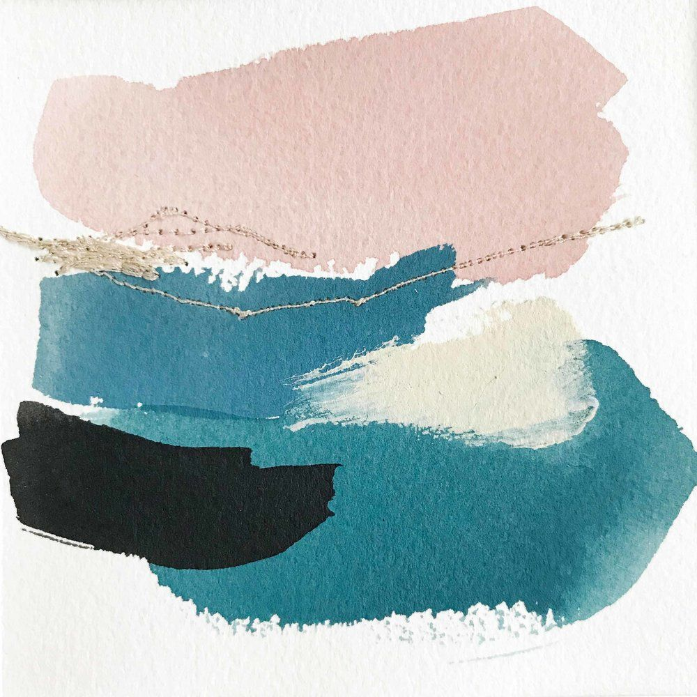 Color Study In Blue Black Turquoise Teal Grey Blue And Blush