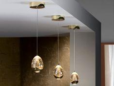 Lampade A Sospensione Led : Lampade a sospensione led di luce collezione rocio oro