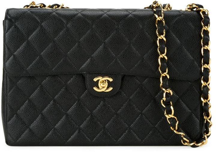 Farfetch Chanel Vintage Quilted Shoulder Bag