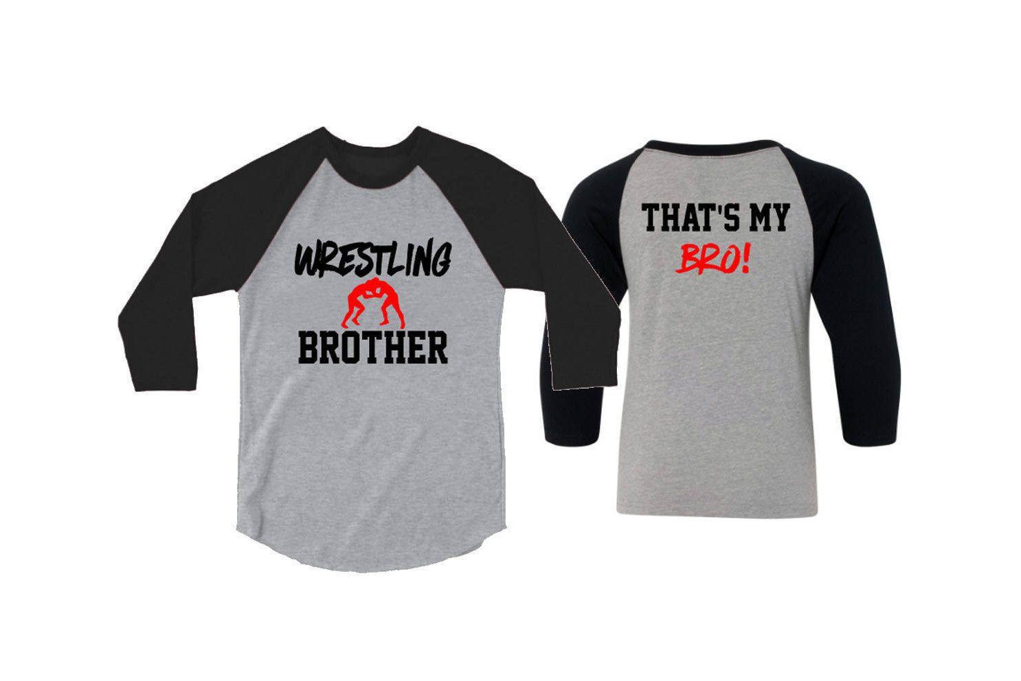 Wrestling Brother 3 4 Sleeve Baseball Shirt  8ffc29c05