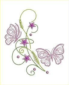 Little Butterflies and Daisies Set 2 - Allsorts Embroidery | OregonPatchWorks