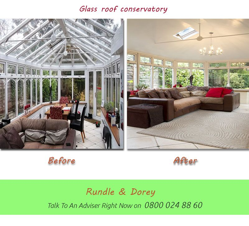 Glass Roof Conservatory Before And After Roof Styles Roof Design Metal Roof Installation