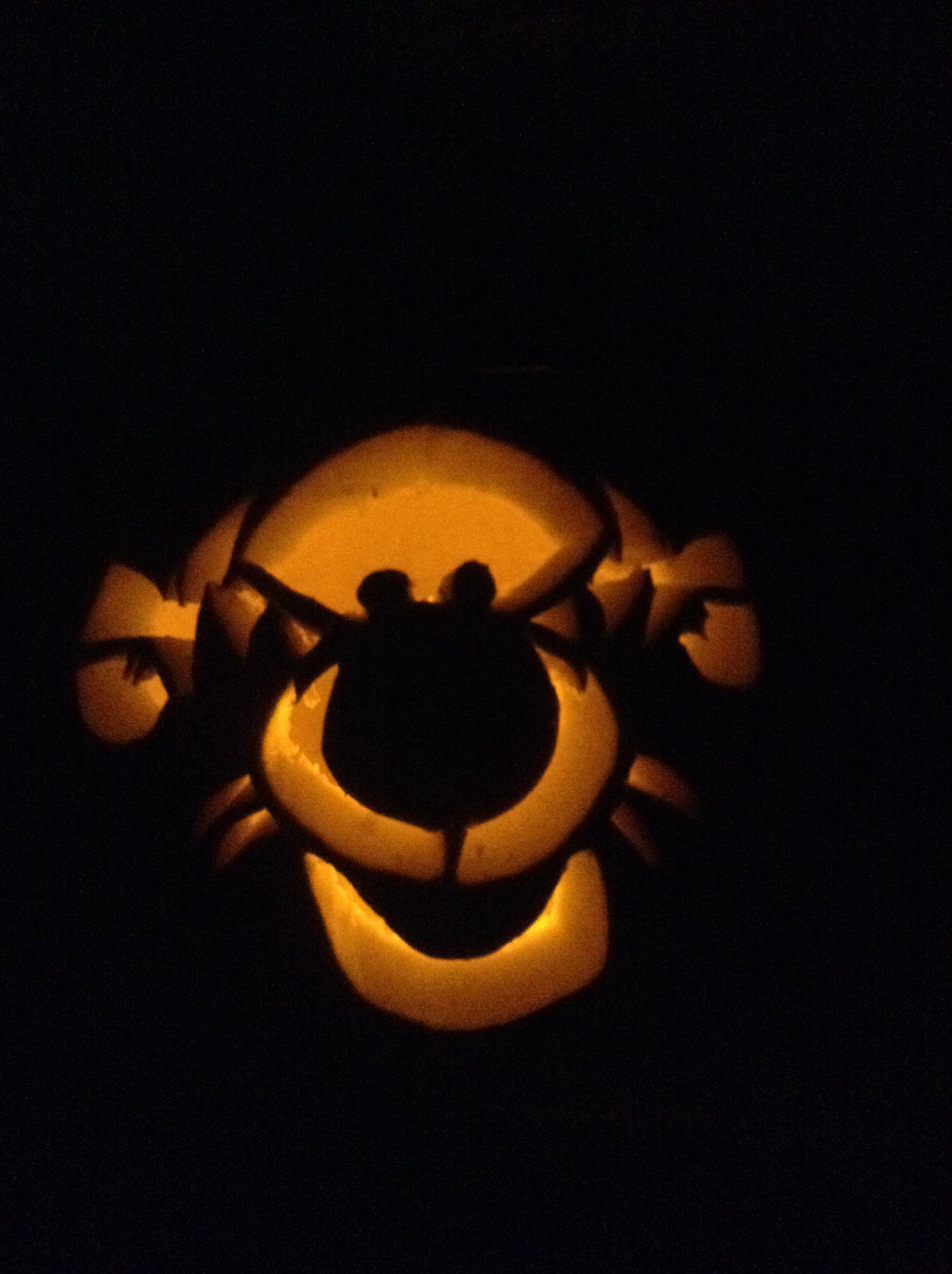 Halloween Pumpkin Carving  Tigger