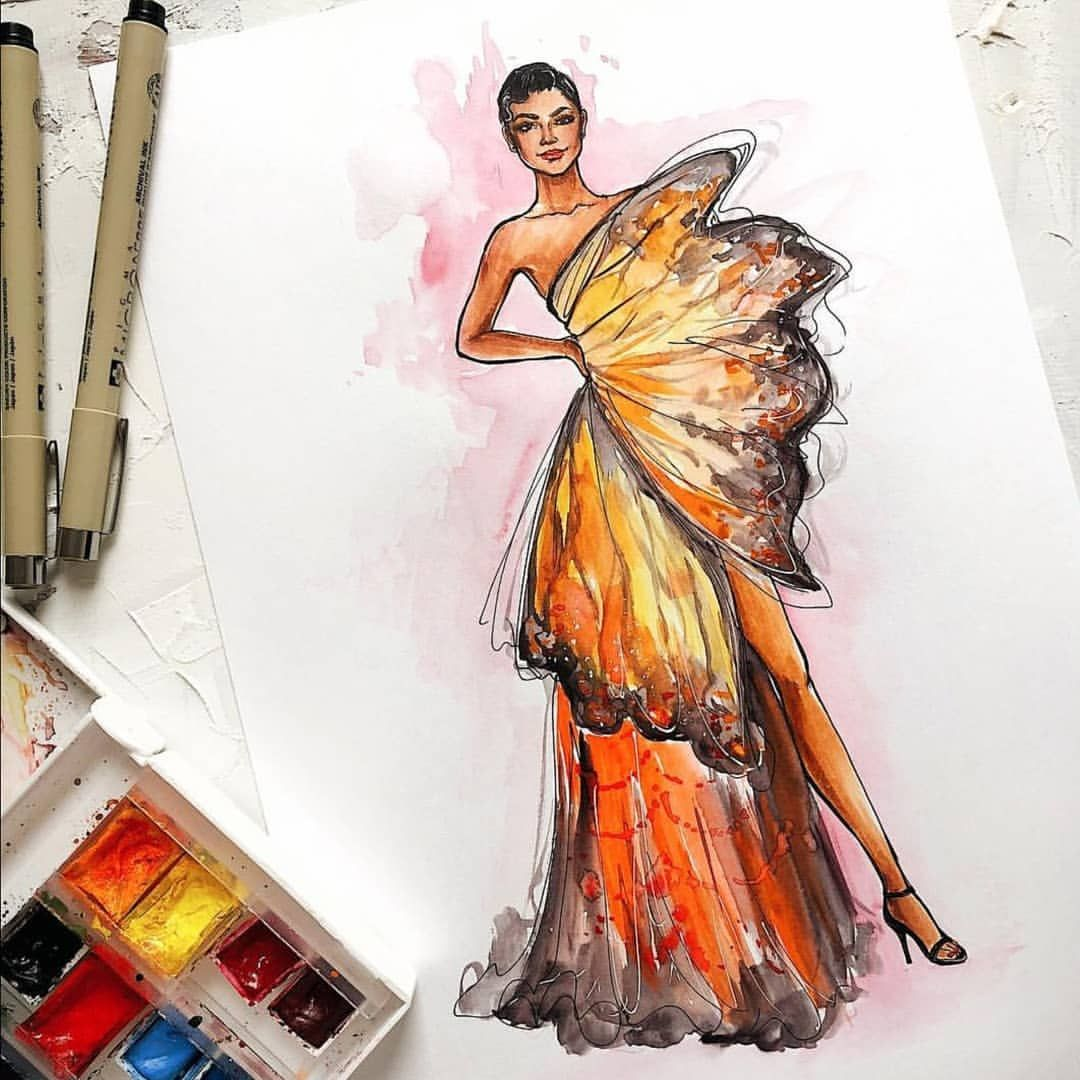 d3d96b48d8f25 #Drawing #Instagram'da Gallery of Fashion Designs (@glowing.boutique):
