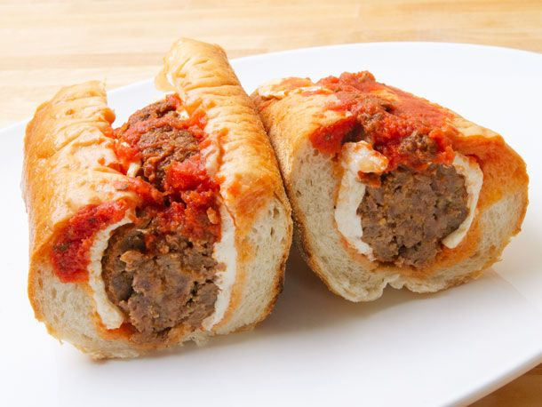 meatball parmagiana from parisi bakery.