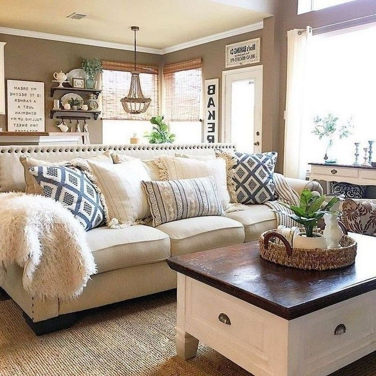 46 Best Living Room Decor Ideas With Farmhouse Style images