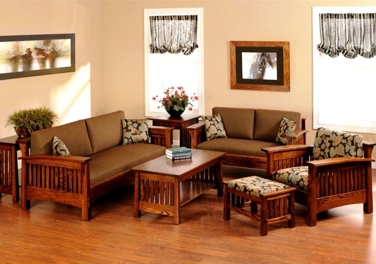 Marvelous Wooden Sofa Sets For Living Room