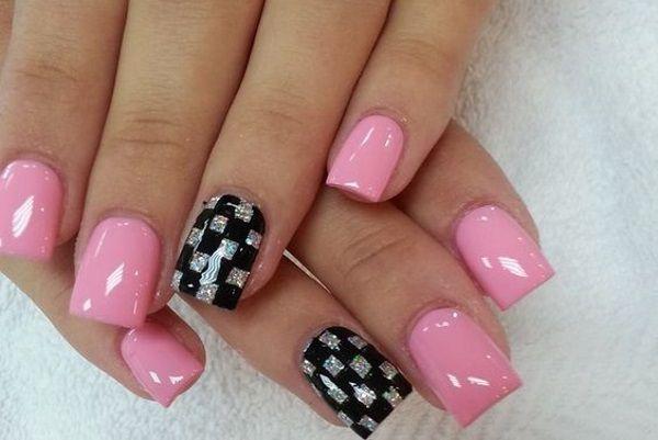 Checkered Flag Nails Checkered Nails Racing Nails Summer Nails Colors