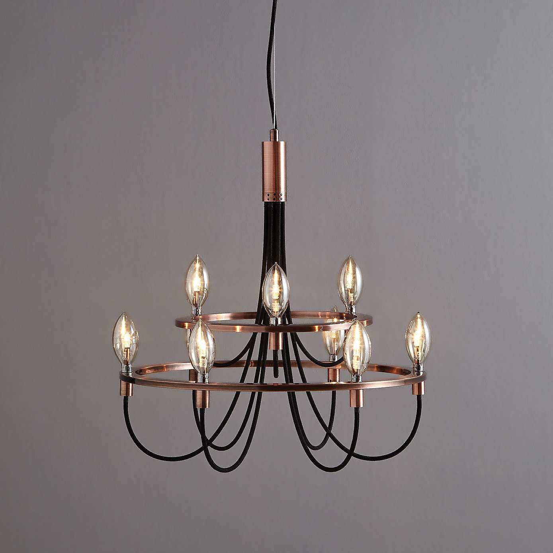 Fredirica 9 light copper chandelier dunelm lhc decorating ideas fredirica 9 light copper chandelier aloadofball Gallery
