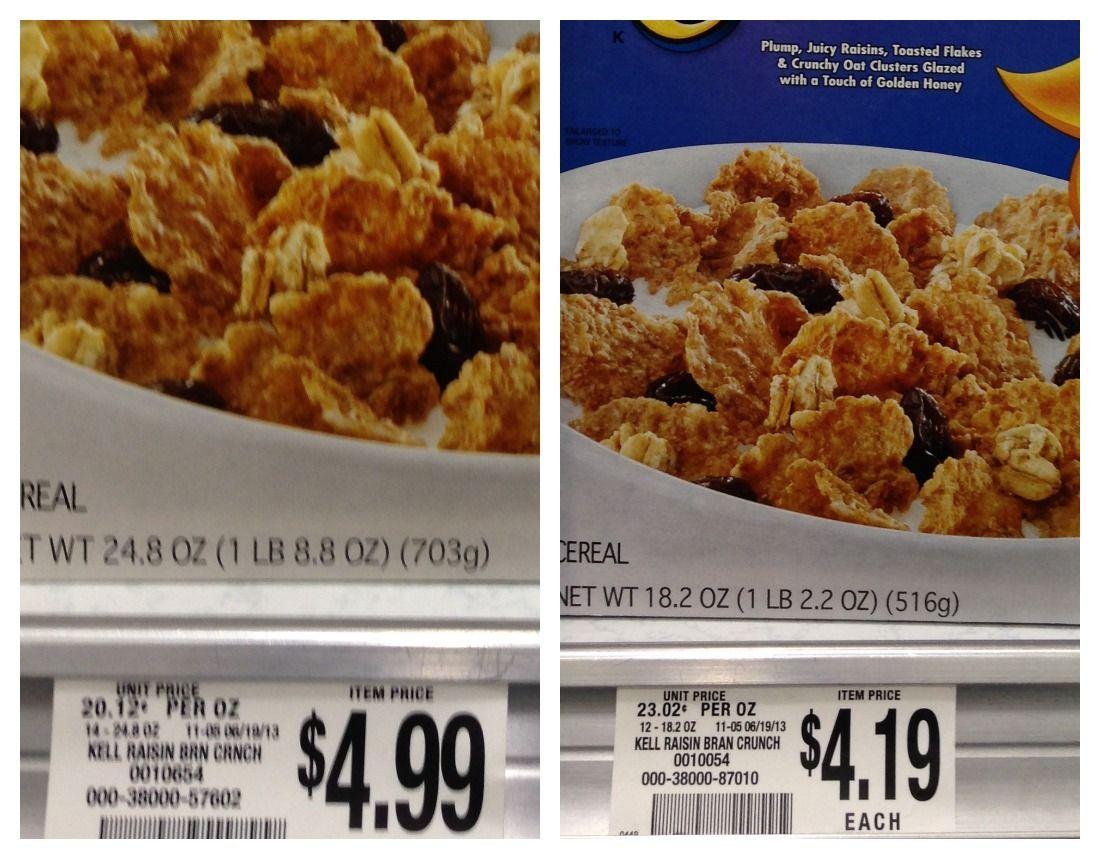 Calculate The Unit Price For Raisin Bran Crunch At Publix