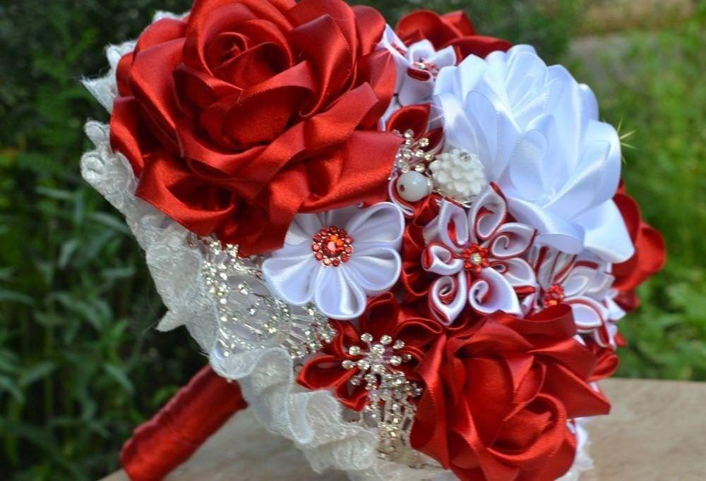 Букеты для невестпошагово канзаши, цветов оптовая