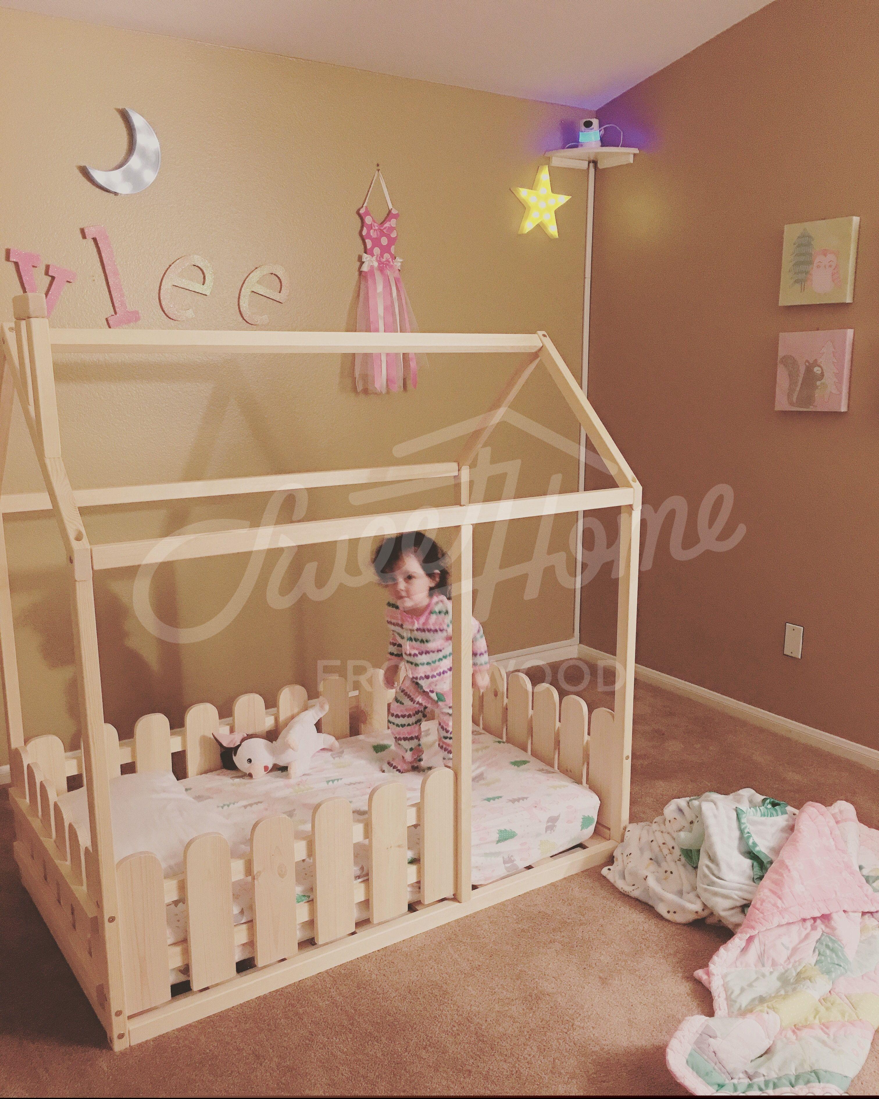 Montessori Bed House Bed Children Bed Toddler Bed Kid Bed Etsy In 2020 Kid Beds Toddler Floor Bed Toddler Bed