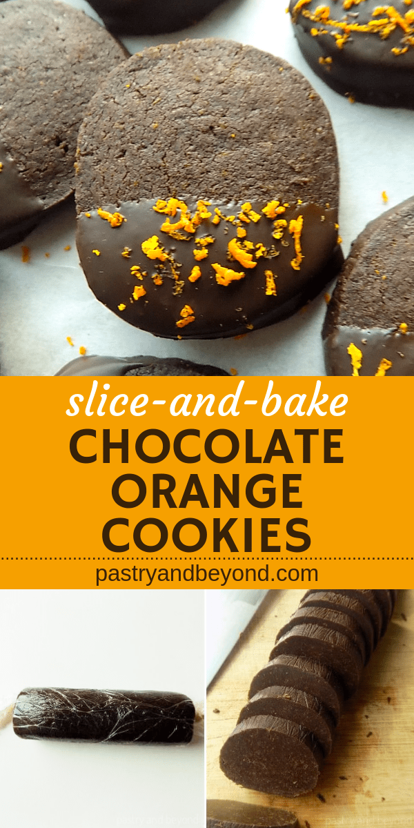Chocolate Orange Shortbread CookiesIf you are a chocolateorange lover youll love these crunchy chocolate orange shortbread cookies This slice and bake cookie recipe is yu...