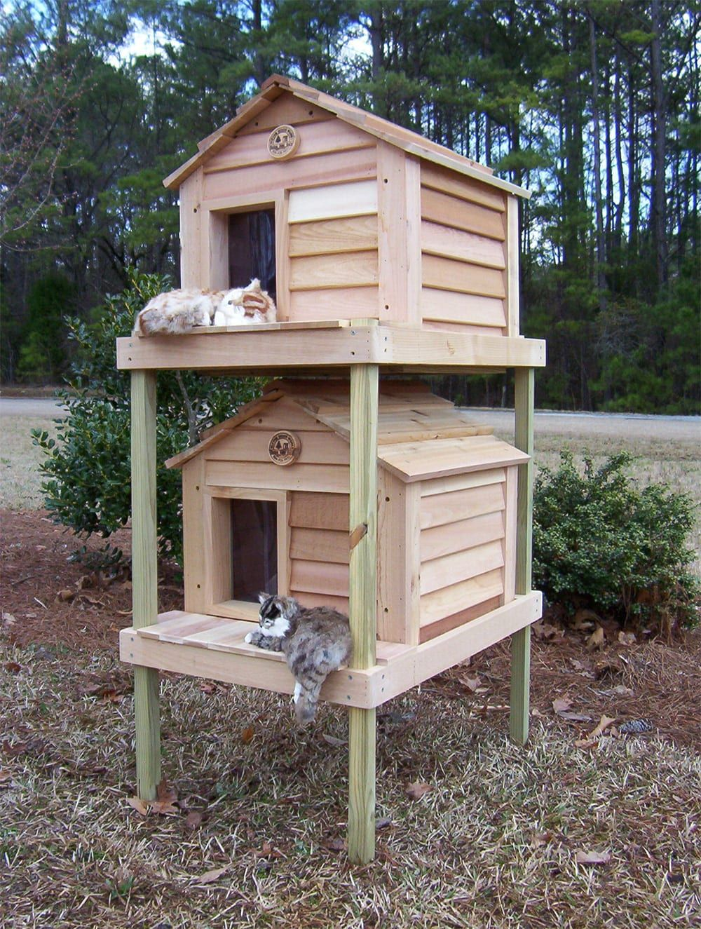 "20"" Townhouse Cat House Outdoor Cat Houses Heated"