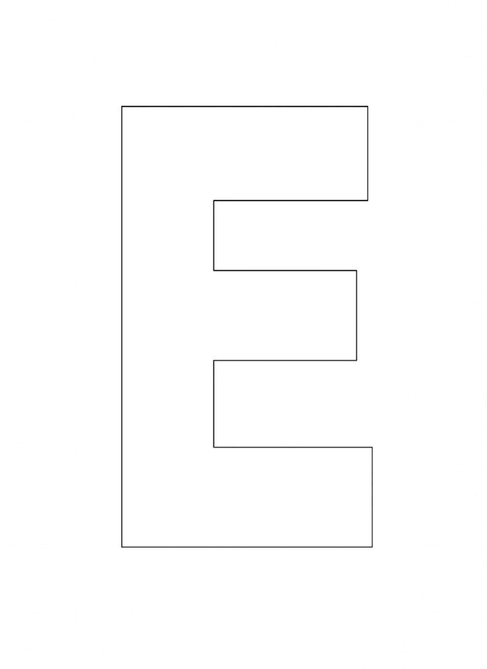 Printable Alphabet Letter E Template Alphabet Letter E Templates Are
