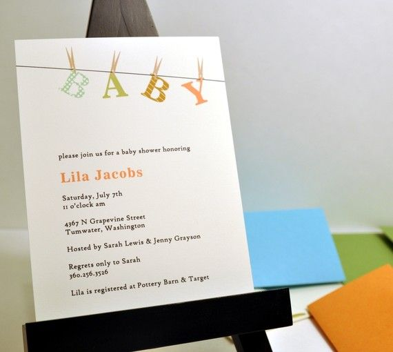 Inspiration for baby shower invitation from OliveandStar on #Etsy. #babyshowerinvitations