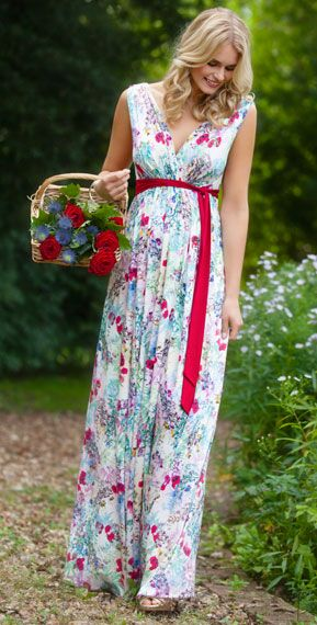 136ffd84fc0ae Anastasia Maternity Gown Long Poppy by Tiffany Rose #Royalascot #Ascotstyle  #Ascotfashion
