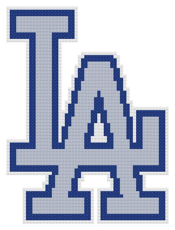 Counted Cross Stitch Pattern Los Angeles Dodgers By Dreamymemories