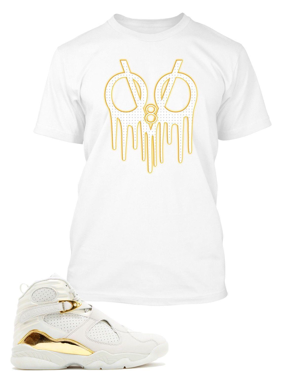 f755494d8a2cdf T Shirt To Match Retro Air Jordan 8 OVO Shoe Custom Mens Tee Design Sizing  S M L