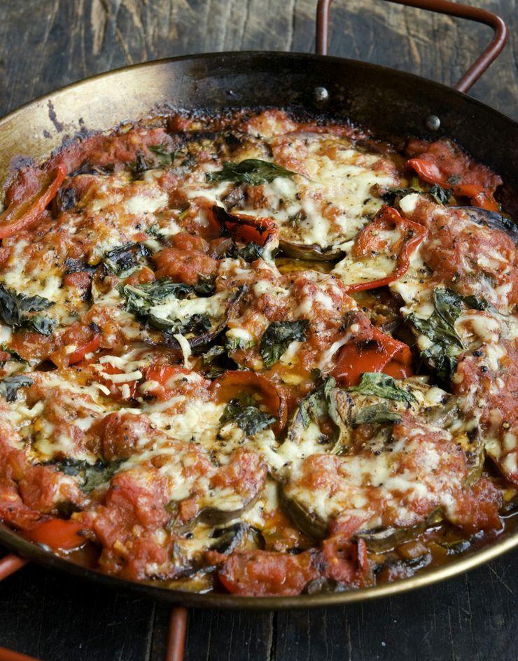 Wild Greens and Sardines : Sicilian Baked Eggplant