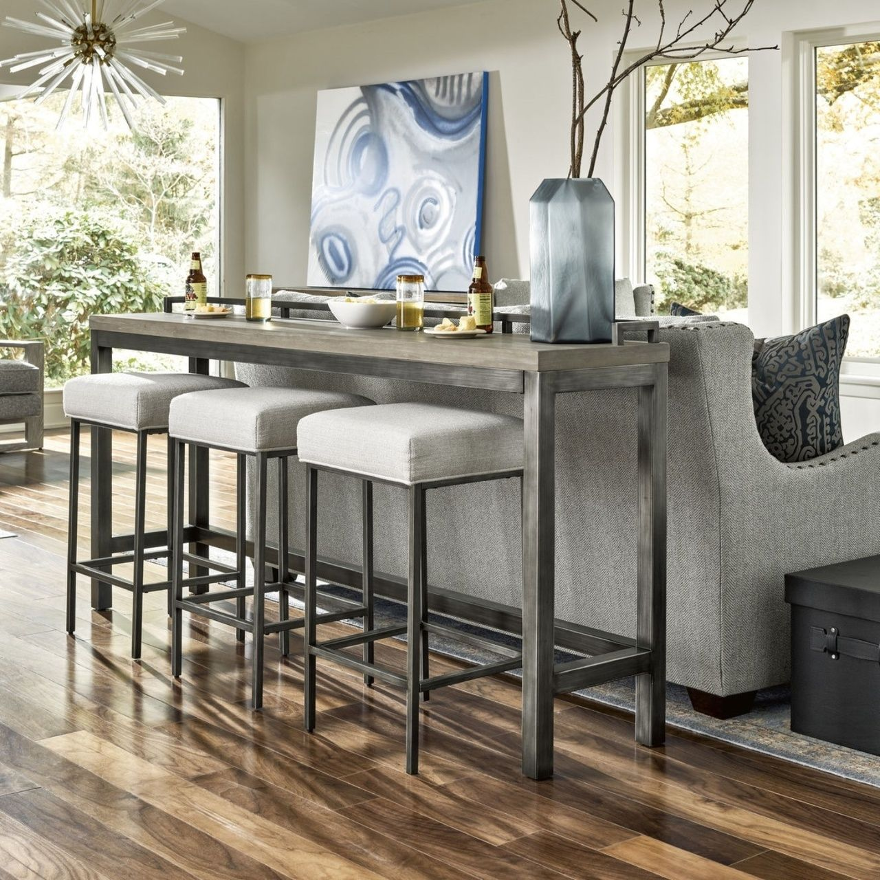 Mitchell 4 Pc Counter Height Table Set Bar Table Behind Couch Table Behind Couch Home Decor