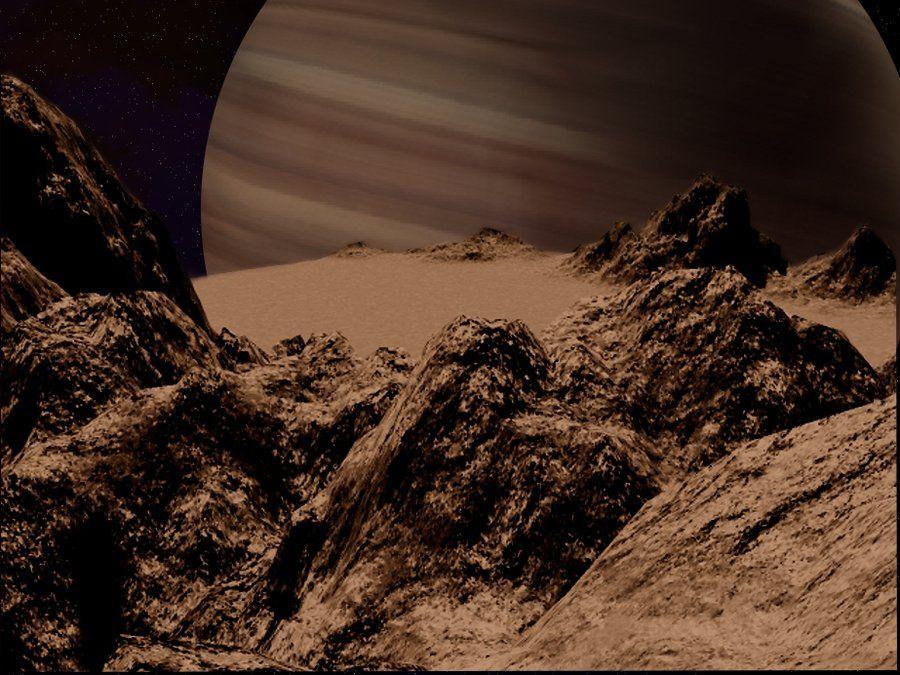 Moon around a Gas Giant planet by montana82.deviantart.com on @deviantART
