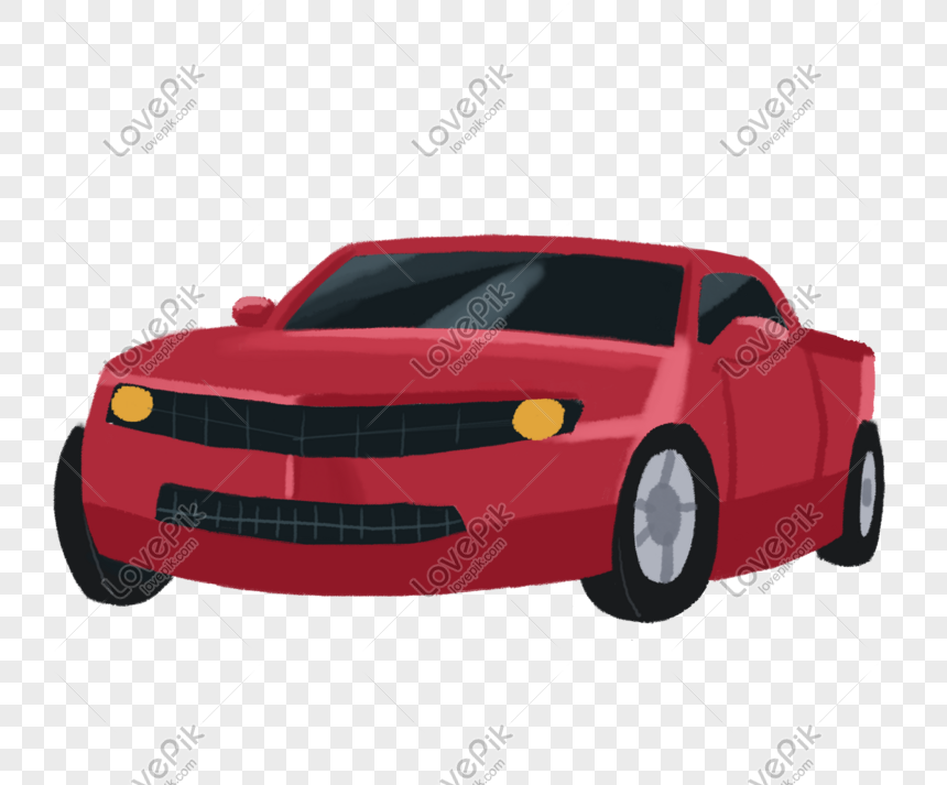 Unduhan Kartun Mobil Berwarna Merah Tangan Kartun Merah Mobil