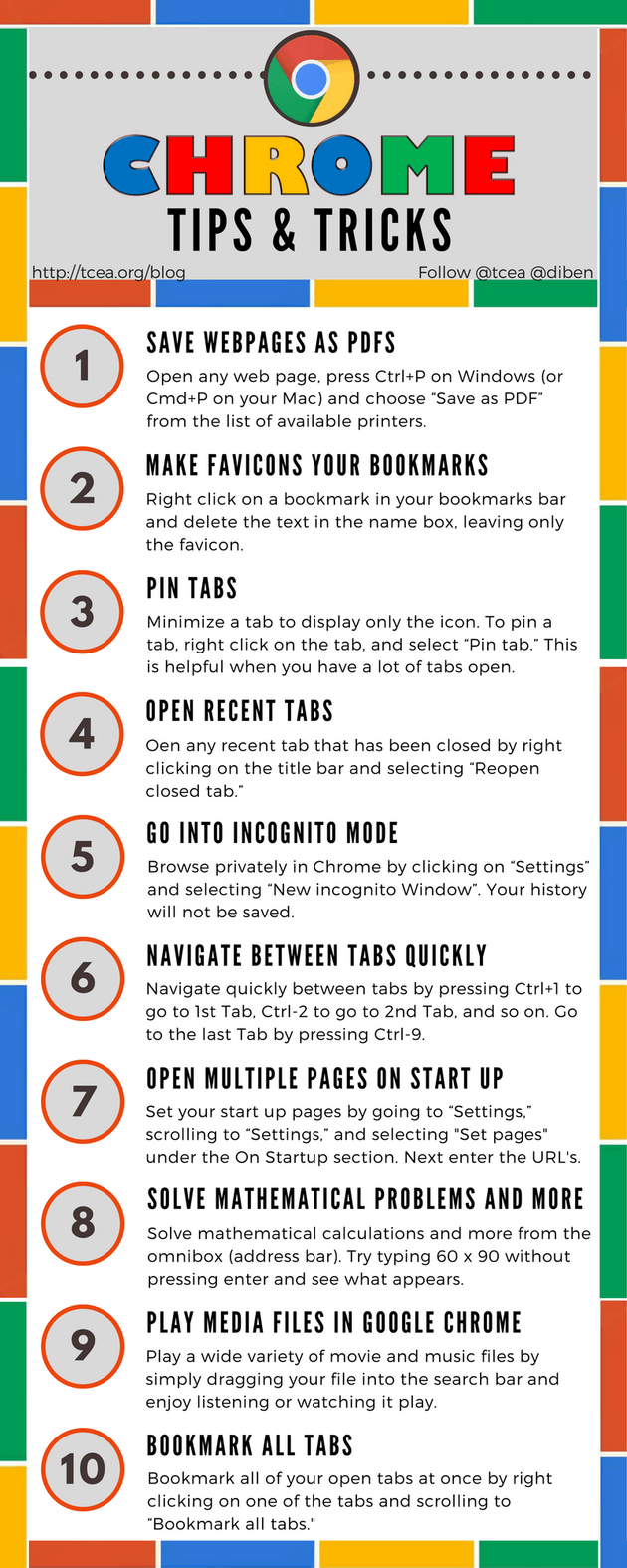 Chrome Tips And Tricks Infographic Teacher Tech Educational Infographic Educational Technology