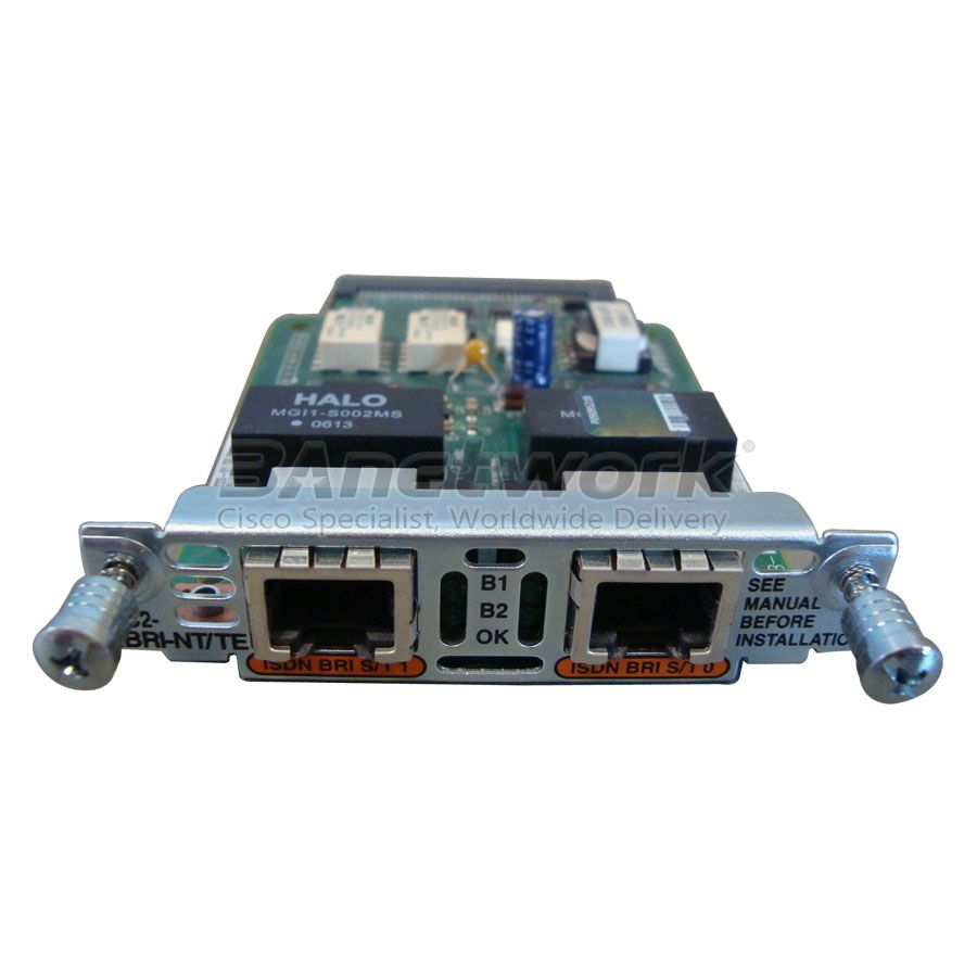 VIC2-2BRI-NT/TE Cisco VIC VIC2 VIC3 Voice Card, Two-port Voice Interface Card - BRI (NT and TE)