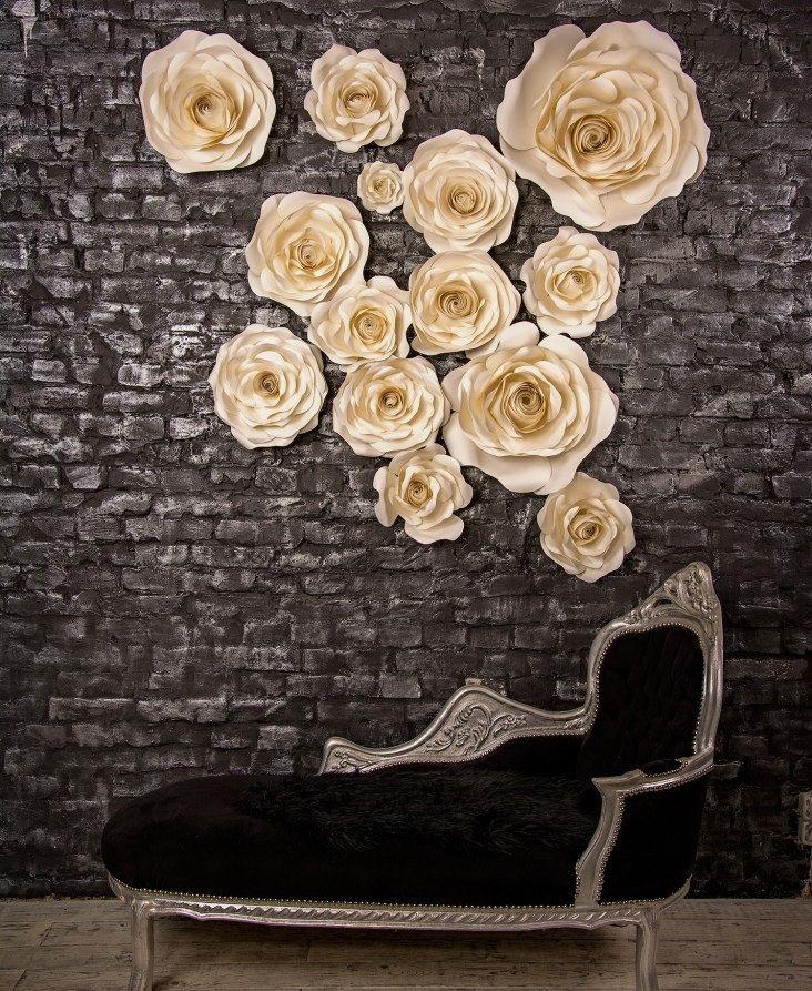 Set of 14 paper roses paper flower wedding arch wedding flower mightylinksfo