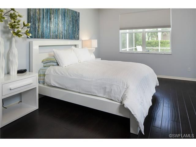 White Bedroom Dark Wood Floors Remodel Bedroom Small Bedroom Remodel Dark Wood Floors