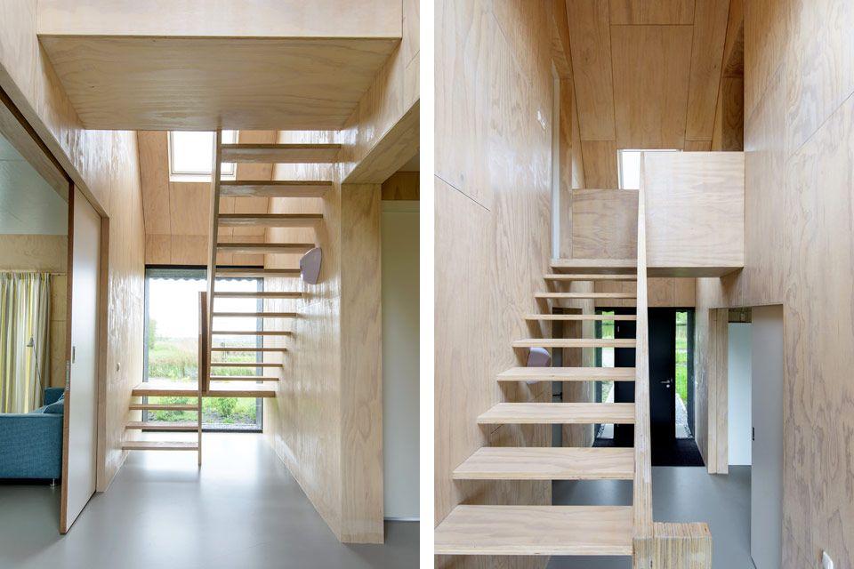 Zomerhuis midlaren woonhuizen trap multiplex en